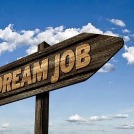 Dream Job direction road sign