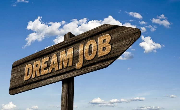 Dream Job direction road sign