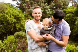 Same sex couple with child