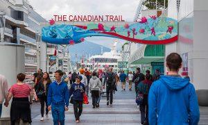 Tourists at Canada Trail tourist Site